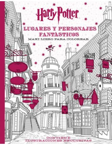 Harry Potter Lugares y Personajes fantasticos Maxi Libro para Colorear