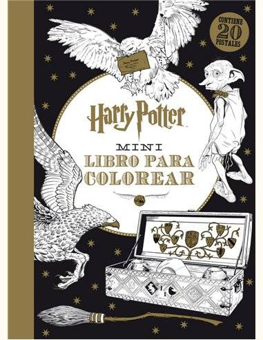 Harry Potter Set 20 postales para colorear
