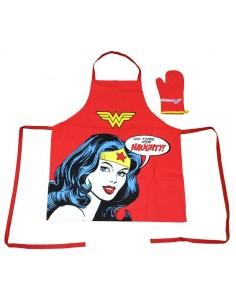 Set delantal y guante Wonder Woman DC Comics