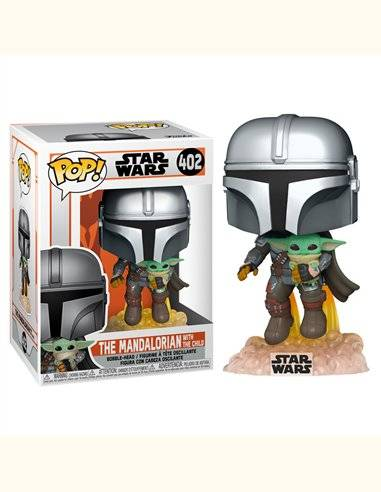 Figura POP Star Wars The Mandalorian Mando Flying with Jet Pack