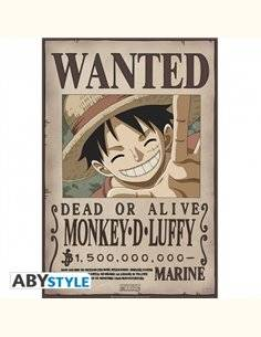 """ONE PIECE - Póster """"Wanted Luffy New 2"""" (52 x 35)"""