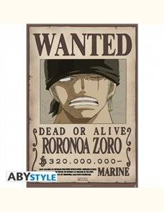 ONE PIECE - Póster  Wanted Zoro (91,5 x 61)
