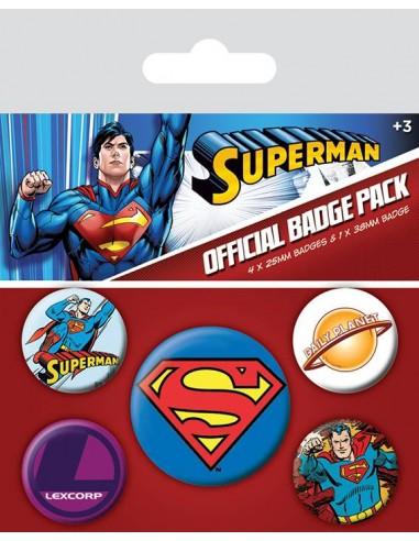 DC comics Set pins Superman