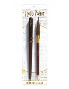 HARRY POTTER - PEN & PENCIL SET VARITA Y ESCOBA